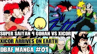 Gambar cover Dragon Ball AF Chapter 1: Xicor Arrives! Super Origin + Saiyan 4 Gohan Vs Xicor (Fan Manga Review)