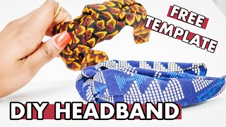 DIY TOP KNOT HEADBAND | ANKARA HAIRBAND | EASY KNOTTED  HEADBAND TUTORIAL