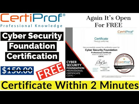 Certiprof Cyber Security Foundation Free Certification | Cyber ...