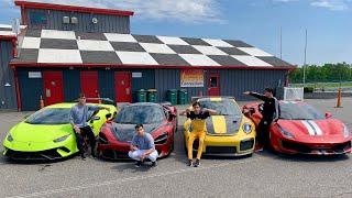 $1,000,000 SUPERCAR RACE! (Ferrari Pista v Mclaren 720s v Lamborghini Performante v Porsche GT2 RS)