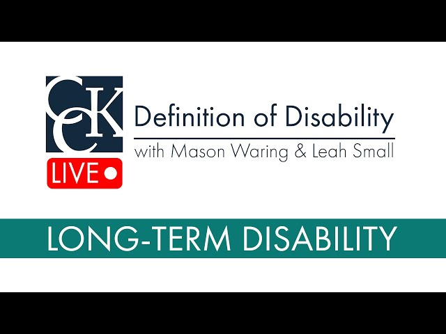 Long-Term Disability Insurance: Definition of Disability