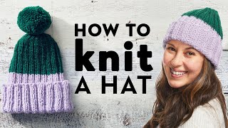 How To Knit A Hat For Beginners | Stitch Club | Good Housekeeping