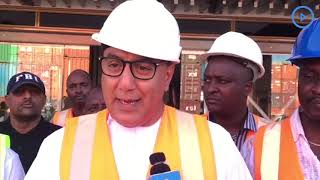 Tourism CS Balala tours the Mombasa cruise terminal