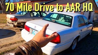 Driving the $250 Copart 98 Mercury Grand Marquis 70 Miles 30MPG to AAR HQ
