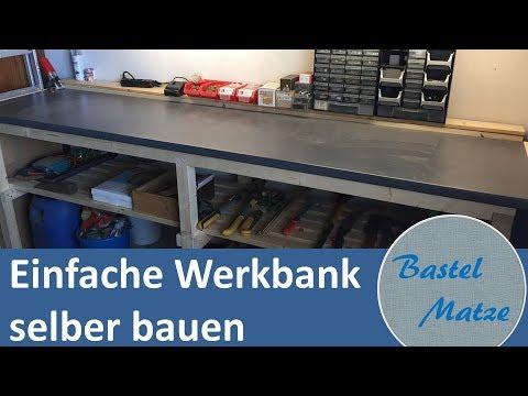 einfache Werkbank selber bauen / building a simple workbench