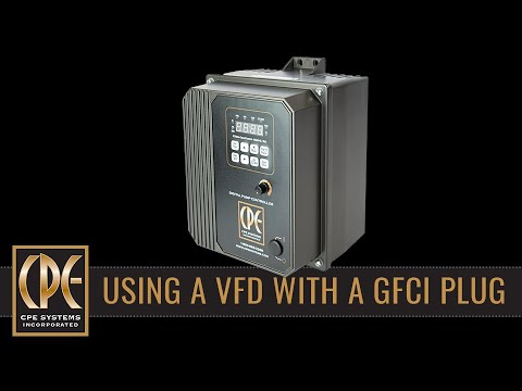 Programming your VFD to work with a GFCI plug