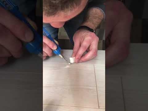 Ремонт ламината за 2 минуты, восковый плавитель, как восстановить ламинат
