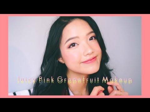 [Metub Collab] Juicy Pink Grapefruit Makeup Look 🍊  Makeup xì tai quả bưởi hồng đáng yêu  Diane Le
