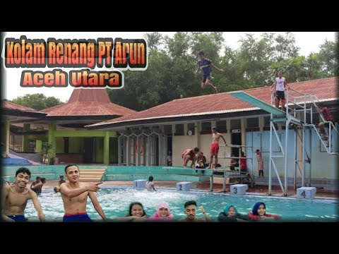 keindahan kolam renang Arun Lhoksemawe Aceh utara
