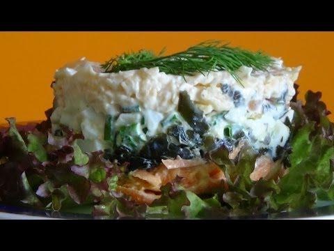 Салат из морской капусты консервированной