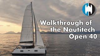 Walkthrough of a Nautitech 40 Open Sailing Catamaran for Sale   by Caroline LaViolette