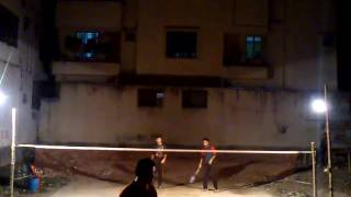 preview picture of video 'Badminton at Bangladesh, Dhaka, Banasree (January 26, 2015) 02'