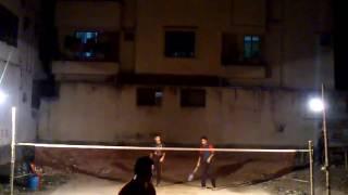 preview picture of video 'Badminton at Bangladesh, Dhaka, Banasree (January 26, 2015) 02'