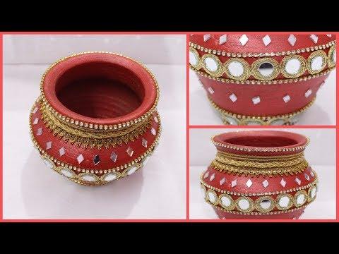 How to Decorate Pot at home I Matki decoration I Indian Festival I Creative Diaries