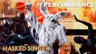 "Rabbit sings ""Livin' La Vida Loca"" by Ricky Martin | THE MASKED SINGER | SEASON 1"