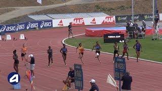 Angers 2019 : Finale 100 m Juniors F (Gemima Joseph en 11''58)