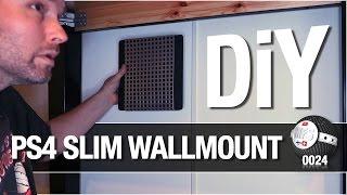 DIY PS4 Slim wall mount