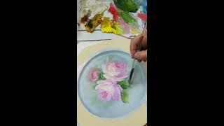 玫瑰花part 2 Decorative Painting Rose -Serina Art 彥蓁彩繪藝術-花鳥福利