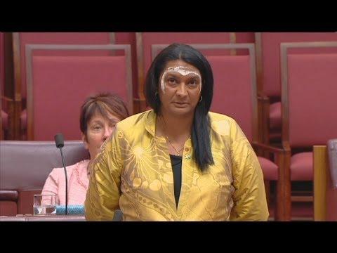 First Indigenous female Senator's emotional speech