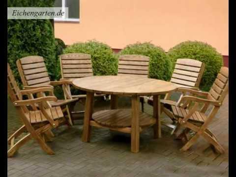 Runde Holz Gartenmöbel Set
