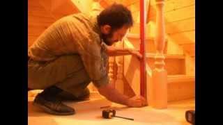Смотреть онлайн Технология монтажа деревянной лестницы своими руками