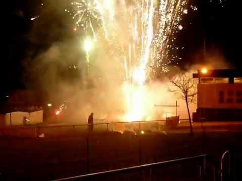 Fuochi d'artificio impazziti in Scozia