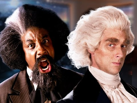Frederick Douglass vs Thomas Jefferson.  Epic Rap Battles of History - Season 5