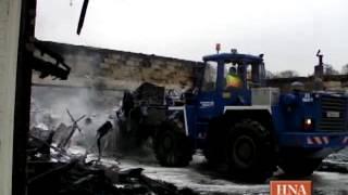 preview picture of video 'Feuerwehr in Einsatz: Lagerhalle brannte in Jesberg'