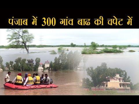 पंजाब में 300 गांव बाढ की चपेट में,70 गांव पूरी तरह डूबे