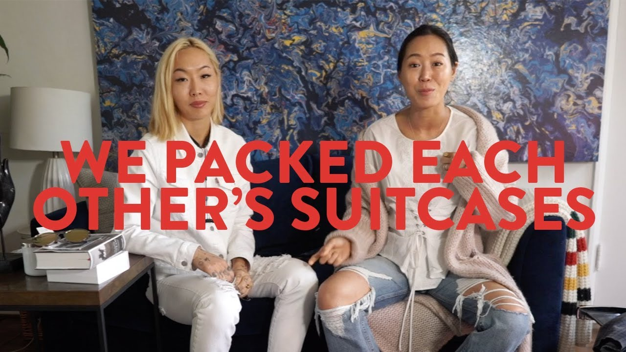 My sister and I pack each other's suitcases for Japan ft. Dani Song | Aimee Song