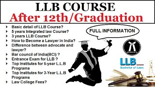 LLB Course Kaise Kare || How to Become a Lawyer in India || law course after 12th / Graduation