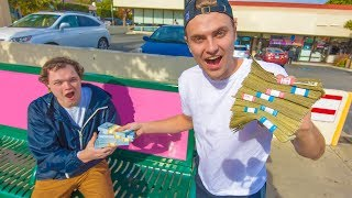 Giving Money to Random People to Complete Challenges!