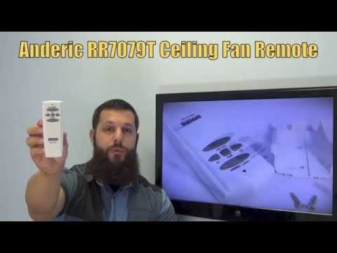 ANDERIC RR7079T FAN-HD Ceiling Fan Remote Control