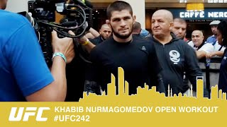 ALL ACCESS OPEN WORK OUTS UFC 242 - KHABIB NURMAGOMEDOV