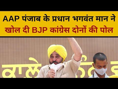 AAP पंजाब के प्रधान भगवंत मान ने खोल दी BJP कांग्रेस दोनों की पोल | Bhagwant Mann latest Speech