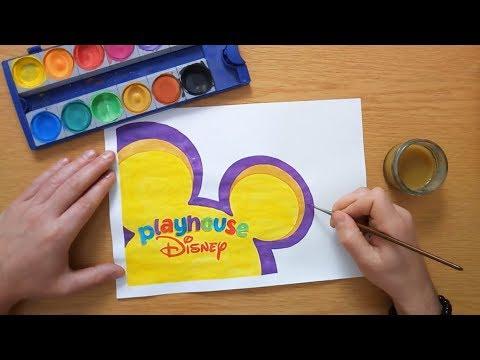 How to draw the Playhouse Disney logo
