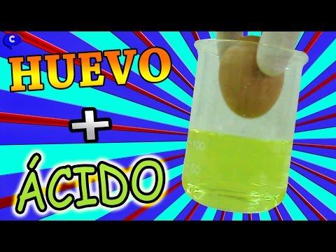 Huevo en acido clorhidrico o salfuman