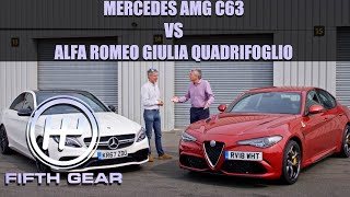 Mercedes AMG C63 Vs. Alfa Romeo Giulia Quadrifoglio - The COMPLETE Challenge | Fifth Gear