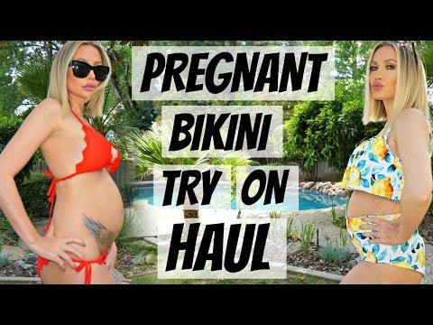 PREGNANT BIKINI TRY ON HAUL CUPSHE