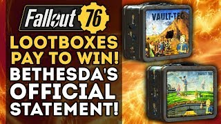 Fallout 76 - Bethesda's Official Statement on Lootboxes and Pay-To-Win!