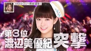 AKB調べ渡辺美優紀唇ランキング第3位