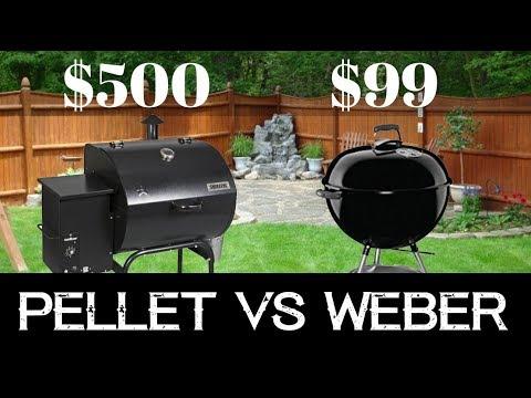 $500 Pellet Grill vs $99 Weber | Beer Can Chicken Review