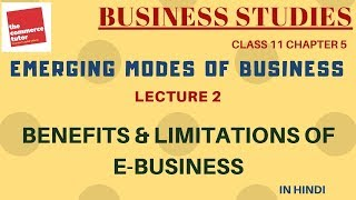 Emerging Modes Of Business - Lecture 2 | Class 11 Business Studies Chapter 5