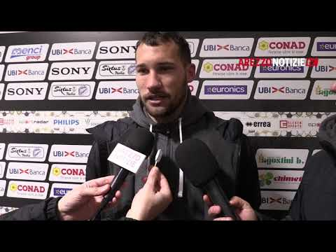 Arezzo-Pianese 0-0, intervista a Baldan