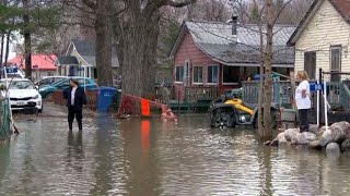 Heavy spring flooding in Quebec