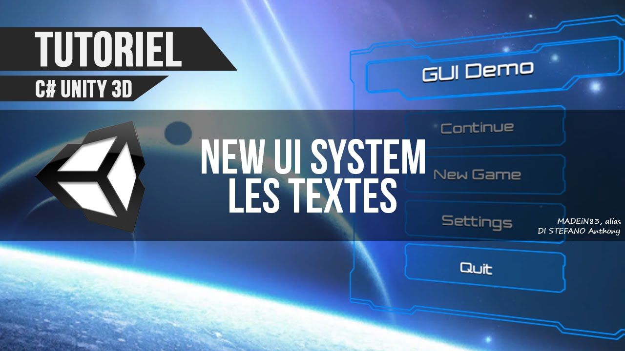[C#][TUTO FR] Unity 4.6 - Nouveau système UI, les textes