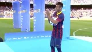 FC Barcelona - Los primeros toques de Neymar en el Camp Nou