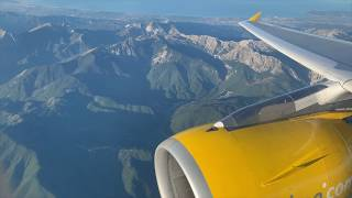 SCENIC Vueling A319-111 Approach & Hard Landing Florence, Italy (Firenze)