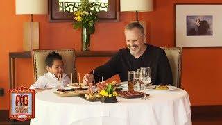 Giovani visita por primera vez en su vida un restaurante con Miguel Bosé   Pequeños Gigantes