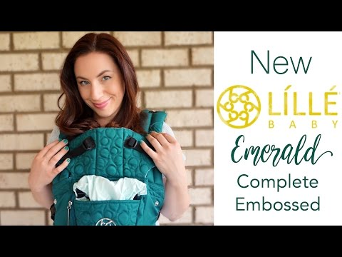 NEW Lillebaby Emerald Embossed Complete LUXE BEST Baby Carrier: Review & Unboxing!